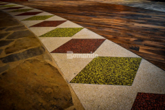 The Choctaw Cultural Center chose the Bomanite Revealed Exposed Aggregate System to create the interior entrance flooring and the incorporation of small design details – like the diamond pattern – was perfect to reflect the Choctaw culture and complement the other flooring materials.